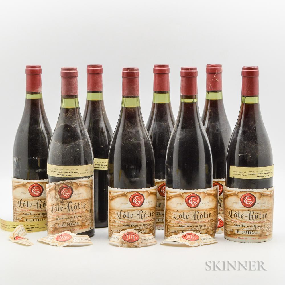 Guigal Cote Rotie Brune et Blonde 1976, 8 bottles