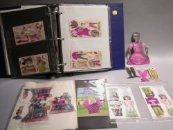Loose Leaf Binder of Uncut and Die Cut Advertising and Supplement Paper Dolls