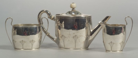 Arthur Stone Three-piece Tea Service