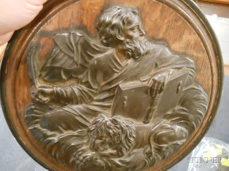 Two Bronze Plaques of Evangelists