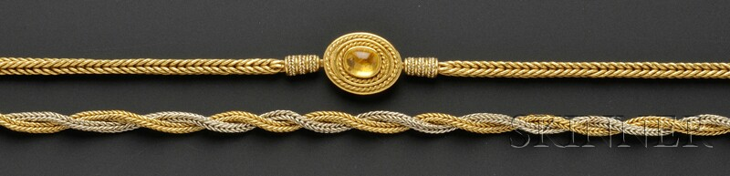 22kt and 18kt Gold Longchain, Noma Copley