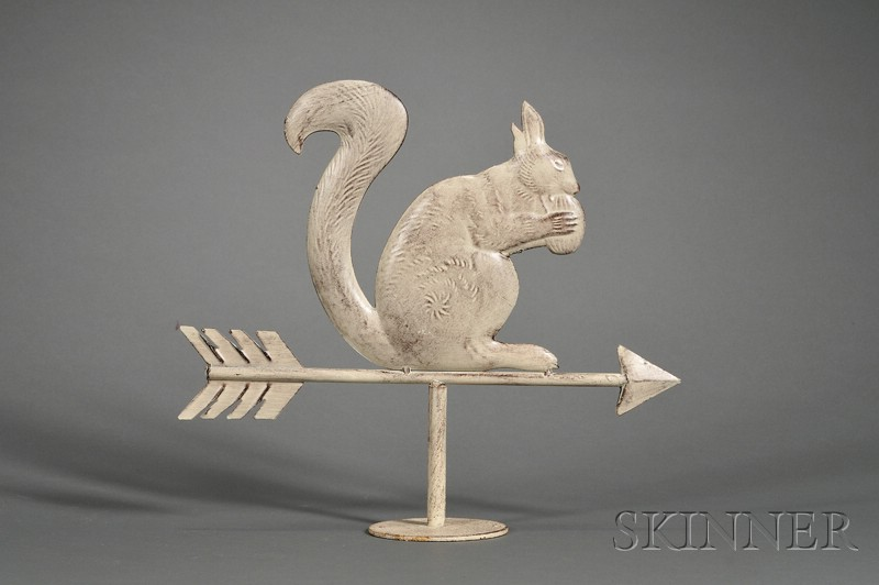 Small White-painted Squirrel Weather Vane