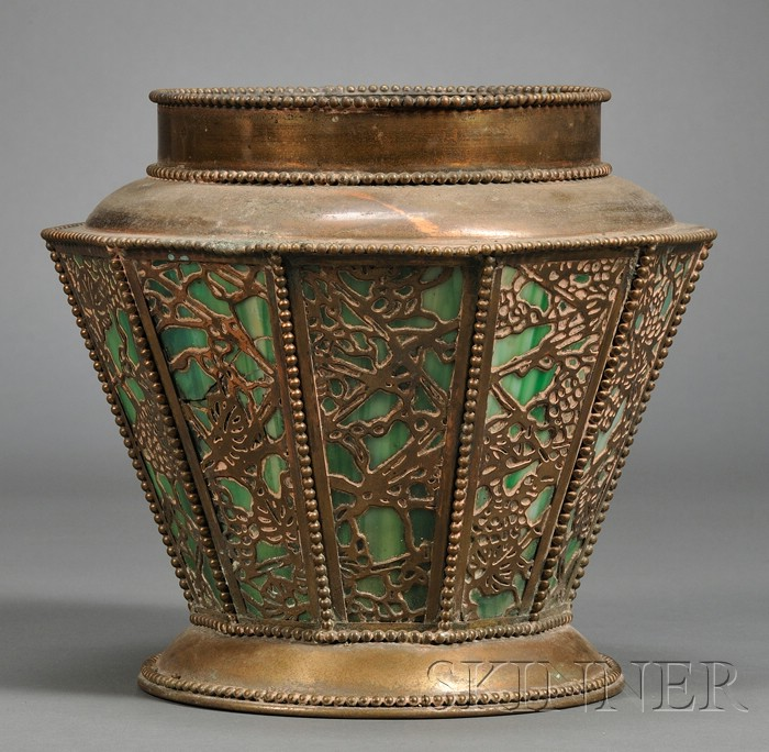 Planter in the Manner of Tiffany Studios