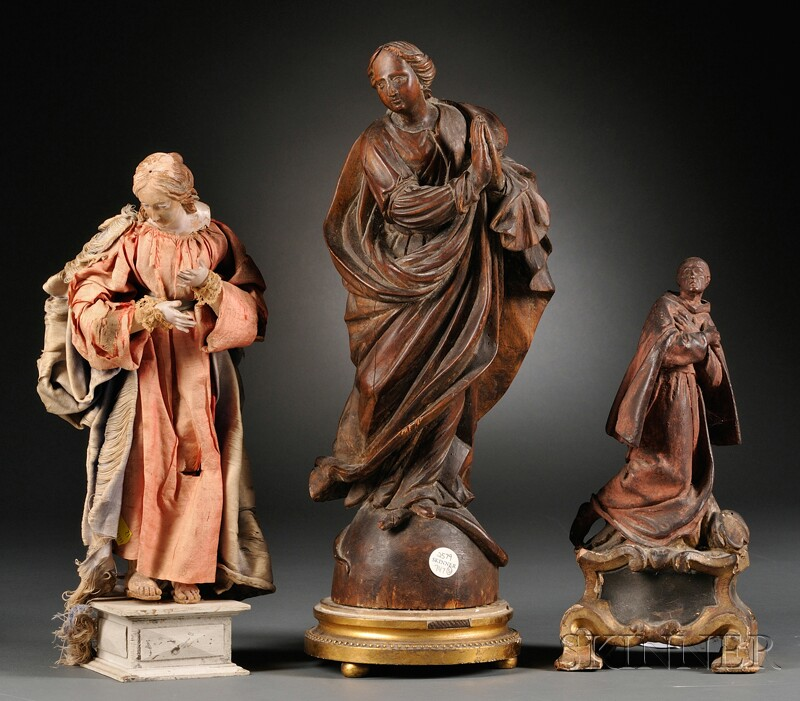 Three Continental Devotional Figures