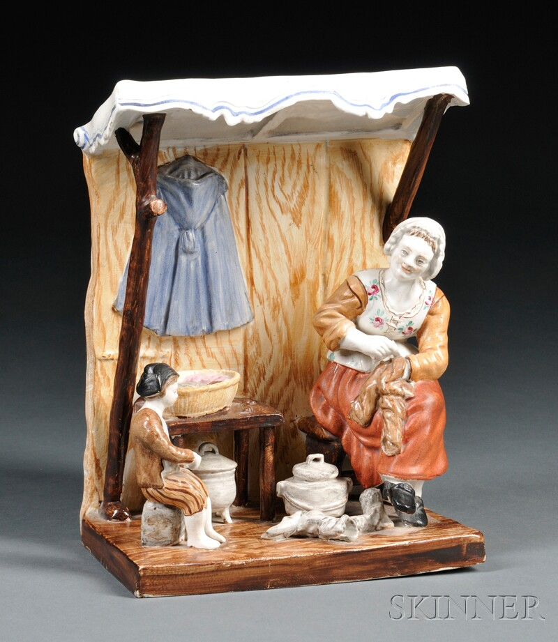 Hochst Painted Porcelain Figural Group