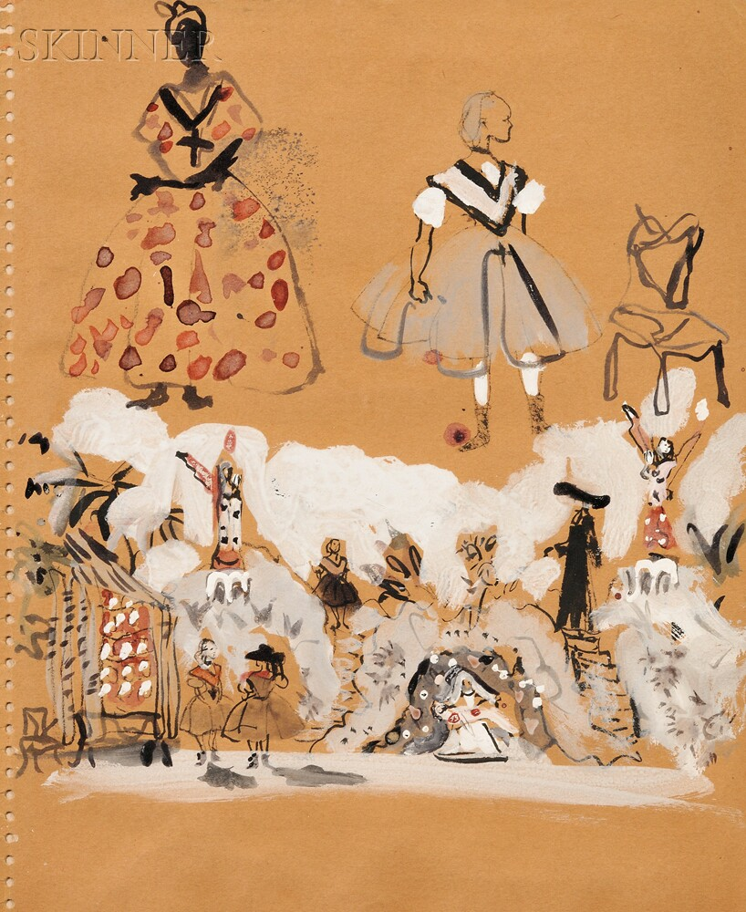 Christian Bérard, called Bébé (French, 1902-1949)      Costume and Set Designs for L'Occasion