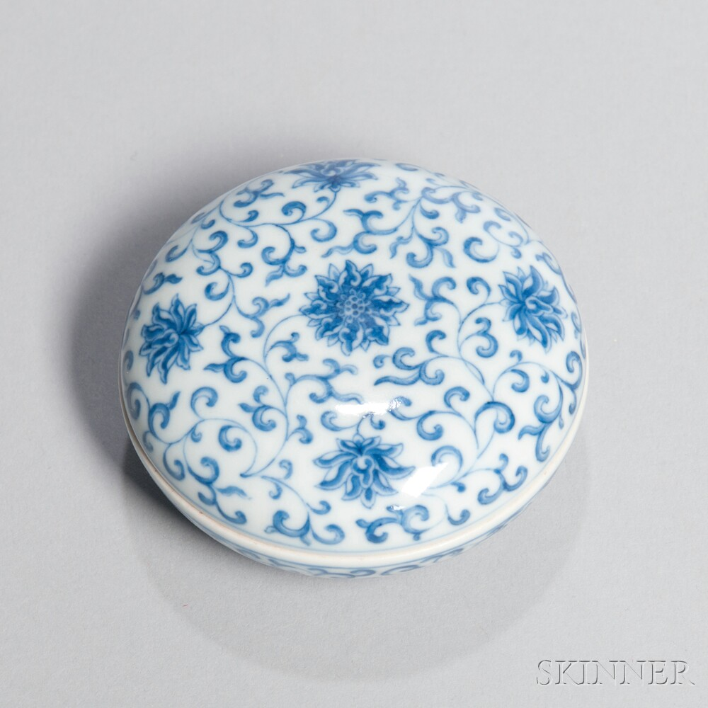 Blue and White Seal Paste Box