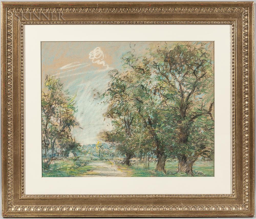 Arthur Clifton Goodwin (American, 1866-1929)      Sunny Country Road