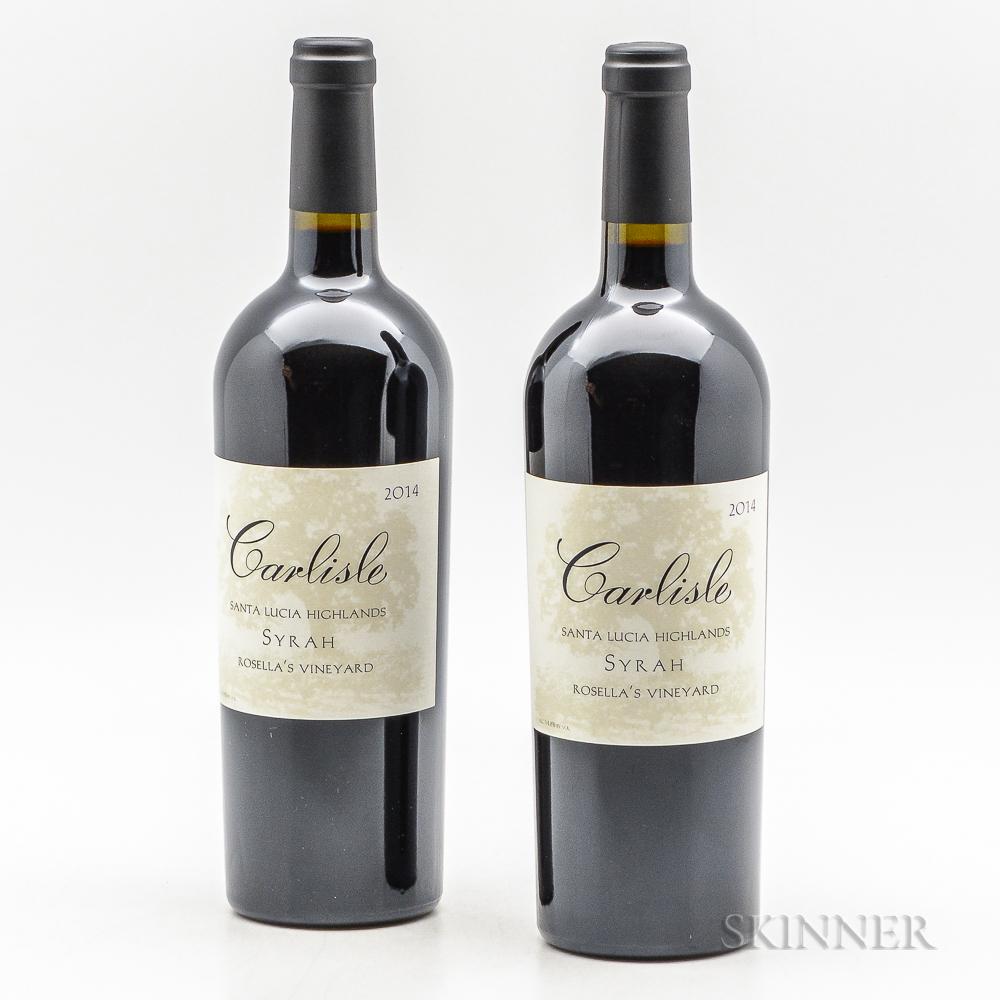 Carlisle Syrah Rosellas Vineyard 2014, 2 bottles
