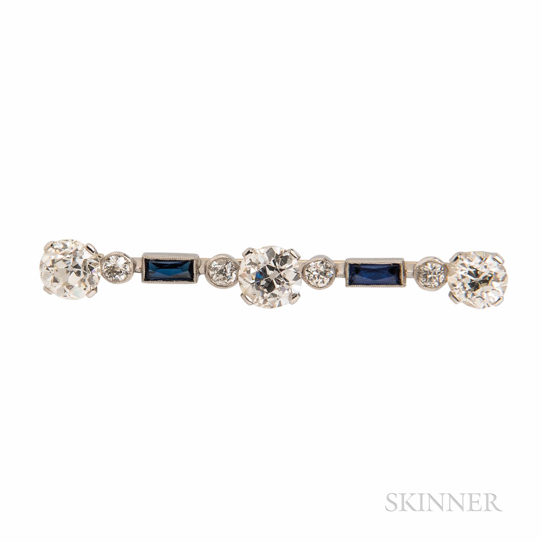 Diamond Bar Pin