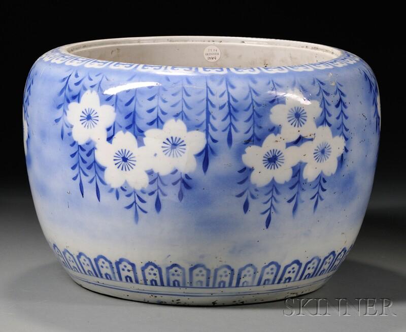 Blue and White Hibachi