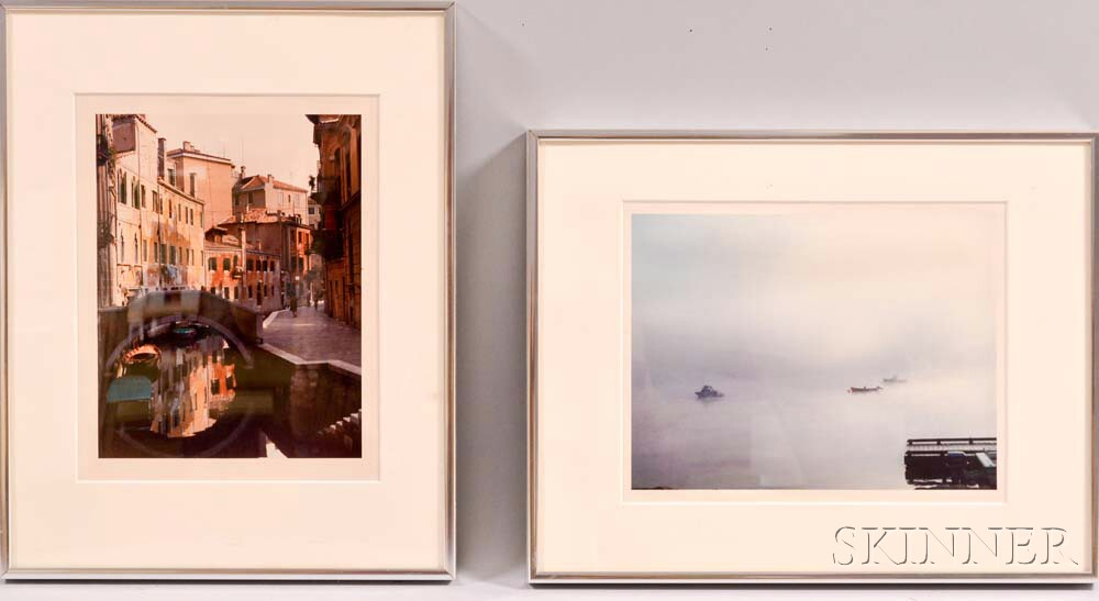 Todd Webb (American, 1905-2000)      Two Color Photographs: Kennebec River, Bath, Maine