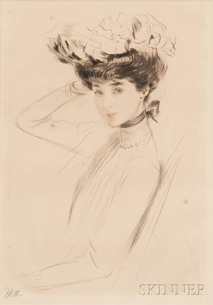 Paul César Helleu (French, 1859-1927)      Étude d'après la Duchesse de Marlborough