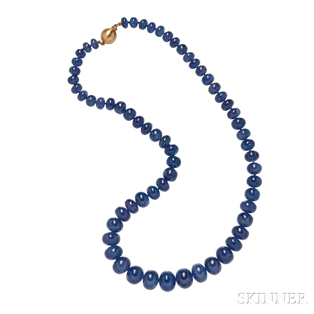 Tanzanite Bead Necklace