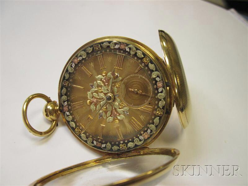Antique 18kt Gold Open Face Pocket Watch