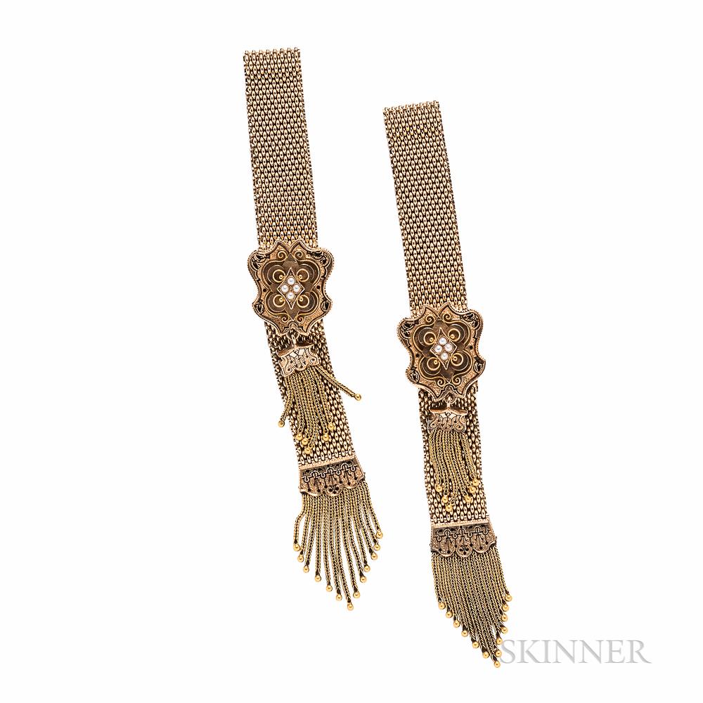 Pair of Victorian Gold Garter Bracelets