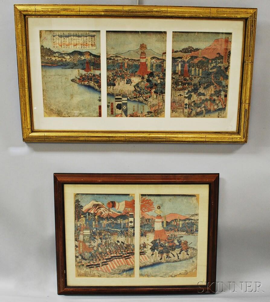 Two Woodblock Prints