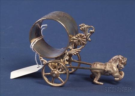 Meriden Britannia Figural Silver Plate Napkin Ring