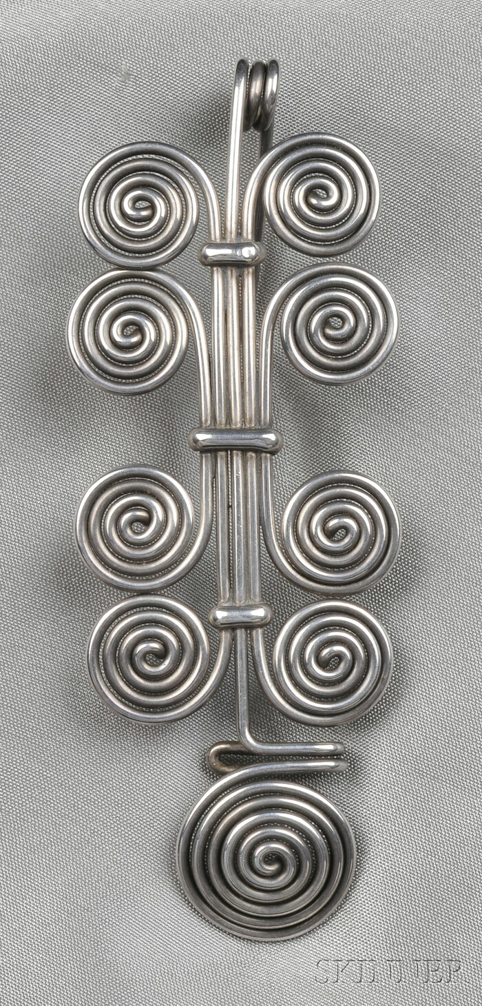 Silver Wire Brooch, Margret Craver