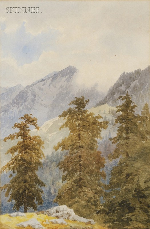 Attributed to Sydney Mortimer Laurence (American, 1865-1940)      Mountain View, Possibly Mt. McKinley, Alaska