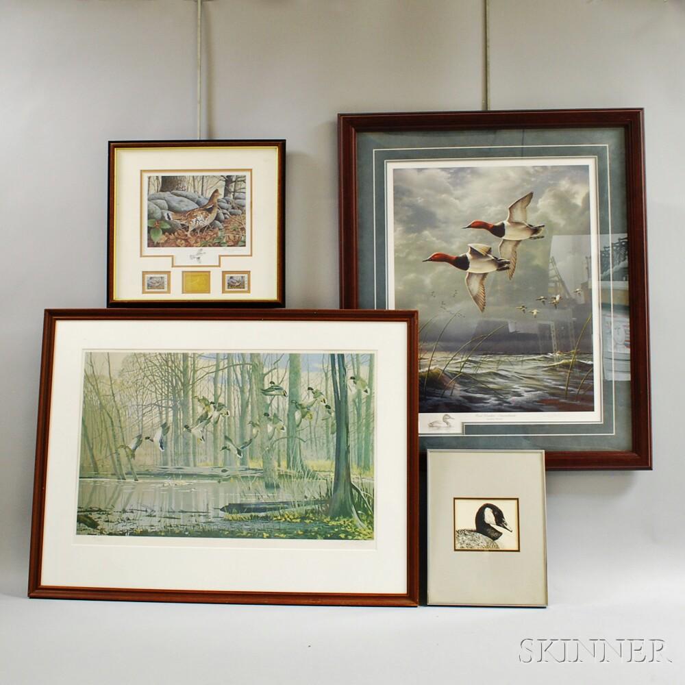 Four Framed Sporting Prints