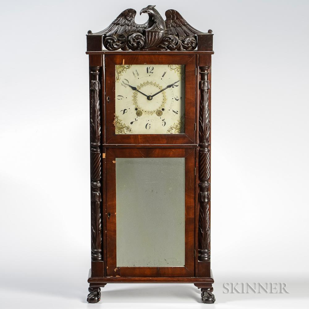 Carved American Shelf Clock