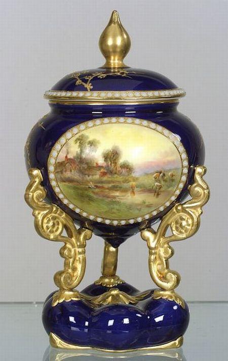 Grainger & Co. Worcester Porcelain Vase and Cover