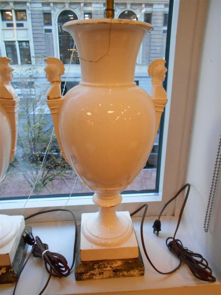 Pair of French Creamware Vases