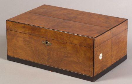 Biedermeier-style Fruitwood Veneered Box