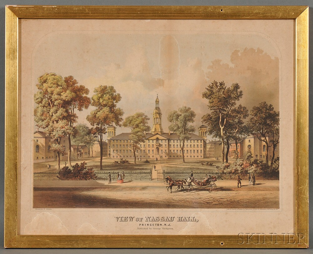 George Thompson, publisher (New York, 19th Century)      VIEW OF NASSAU HALL, PRINCETON, N.J.