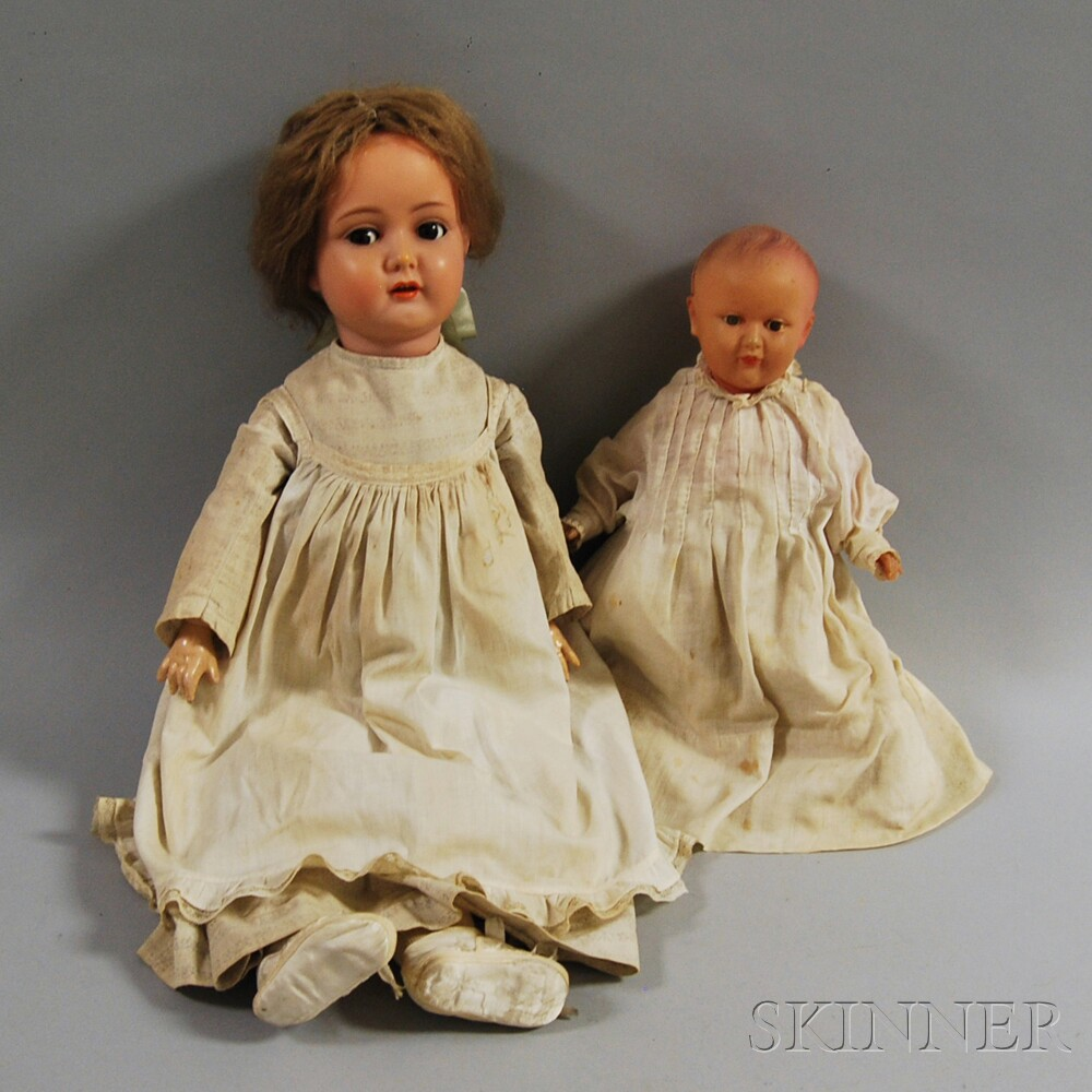 Two Modern Plastic Dolls