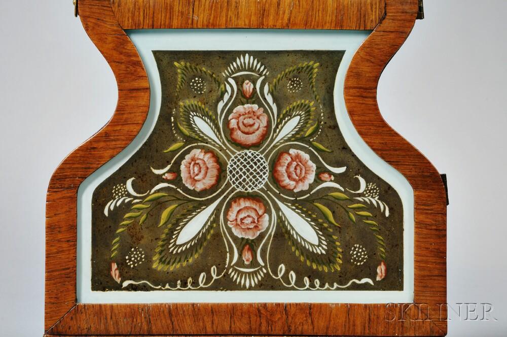 Forestville Mfg. Company Rosewood Veneered Acorn Clock