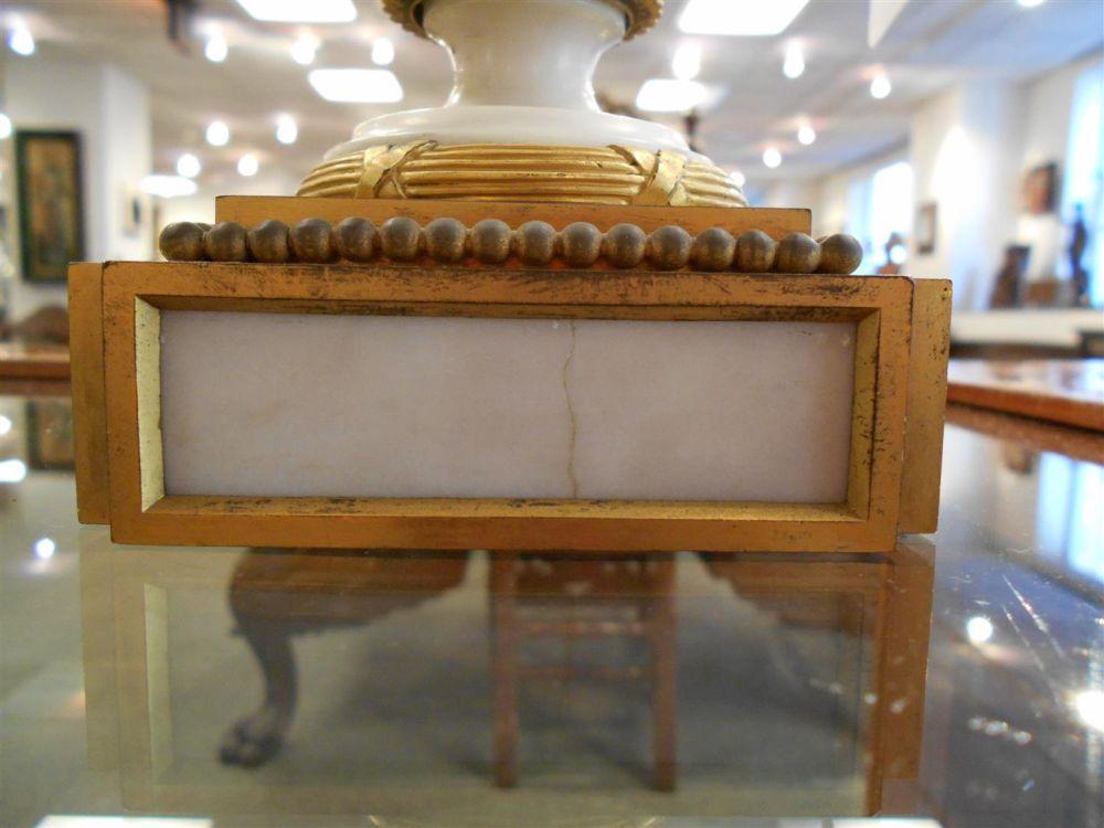 Pair of Empire Ormolu-mounted Marble Brûle-Parfums