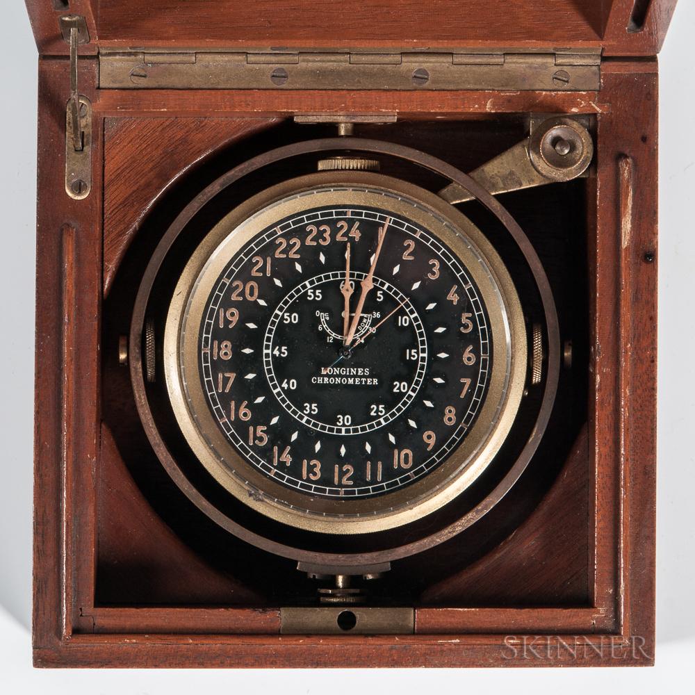 Longines Two-day Gimbaled Deck Chronometer