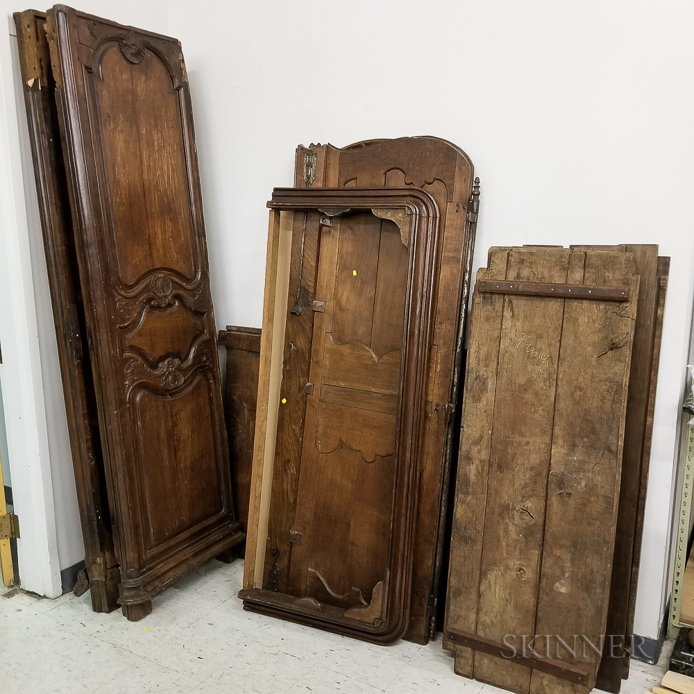 Large French Provincial Carved Walnut Armoire