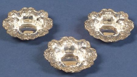 "Sixteen Reed & Barton Sterling ""Francis I"" Nut Cups"