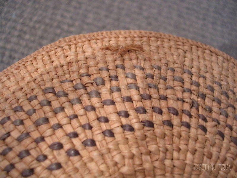 Northwest Coast Polychrome Twined Basket