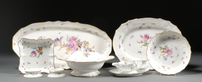 Extensive Assembled Meissen Porcelain Dinner Service
