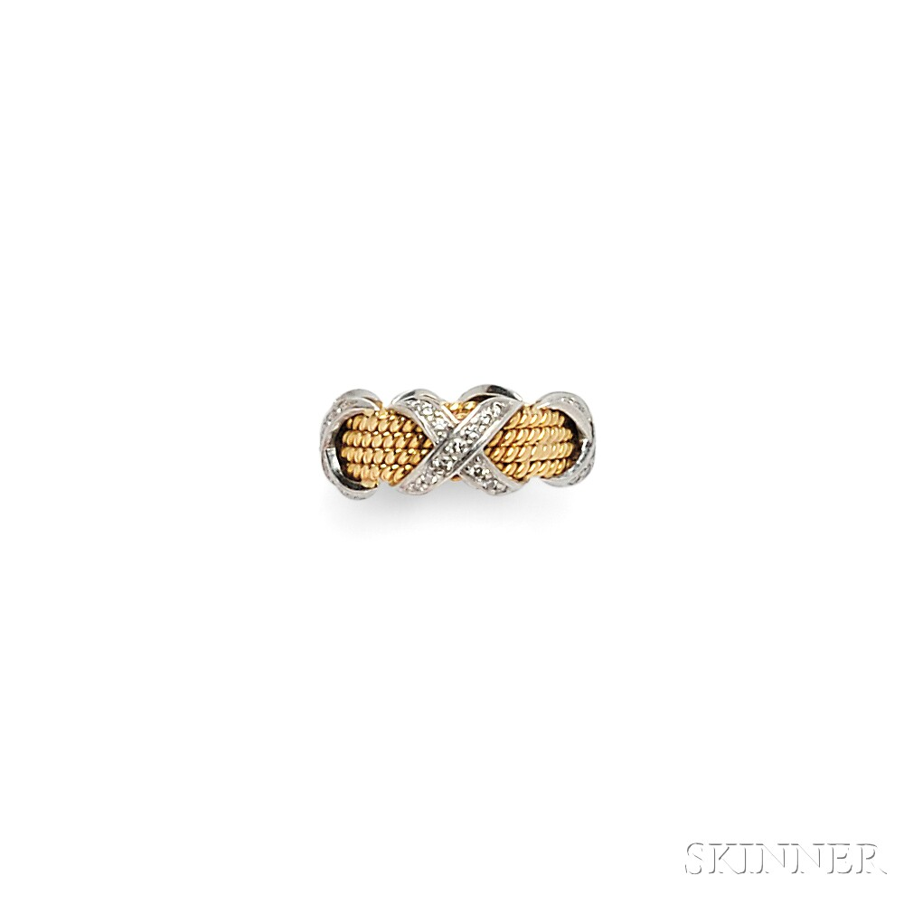 "18kt Gold and Diamond ""Rope"" Ring, Schlumberger, Tiffany & Co."