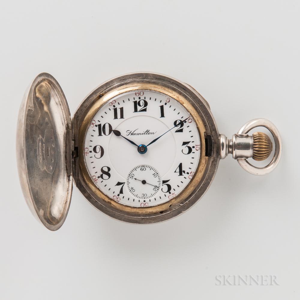 "Unusual Hamilton Watch Co. ""939"" Hunter-case Watch for a Wisconsin Watchmaker"