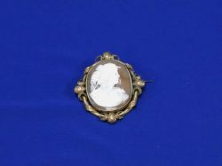 Large Carved Shell Cameo with a Renaissance Revival Gilt-metal Mount.