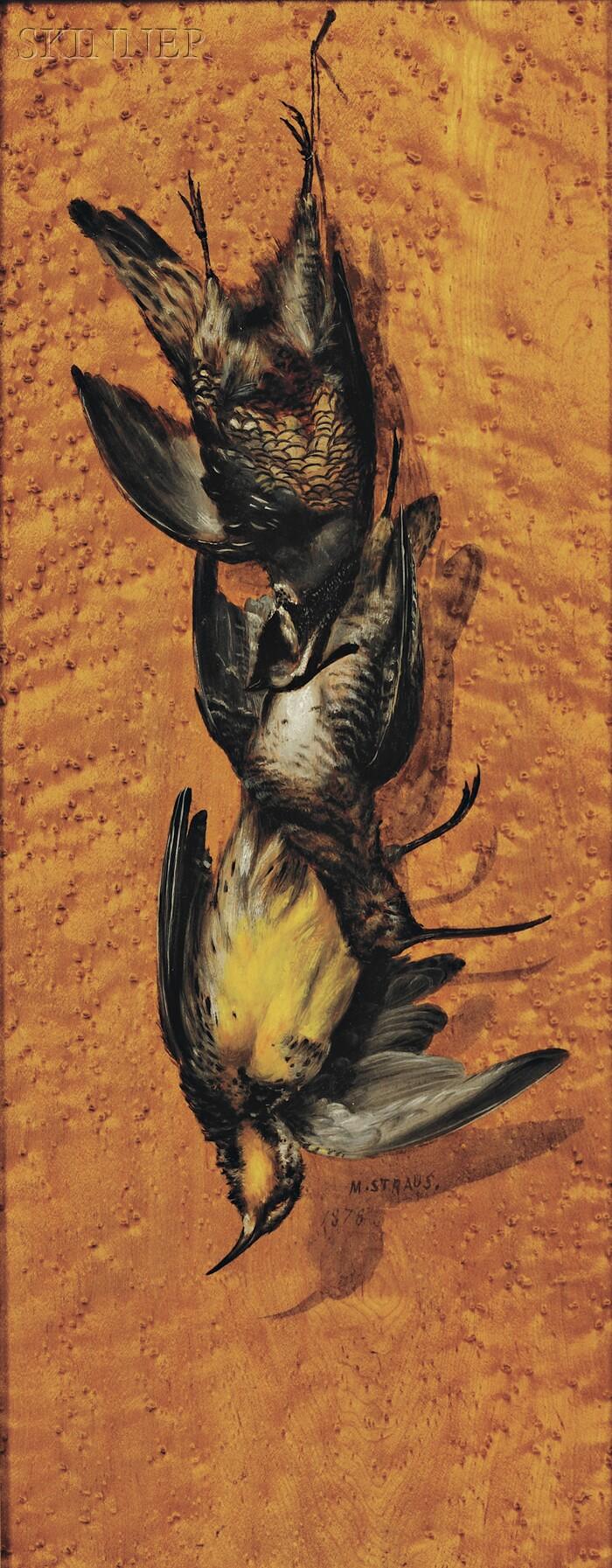Meyer Straus (American, 1831-1905)      Still Life with Game Birds