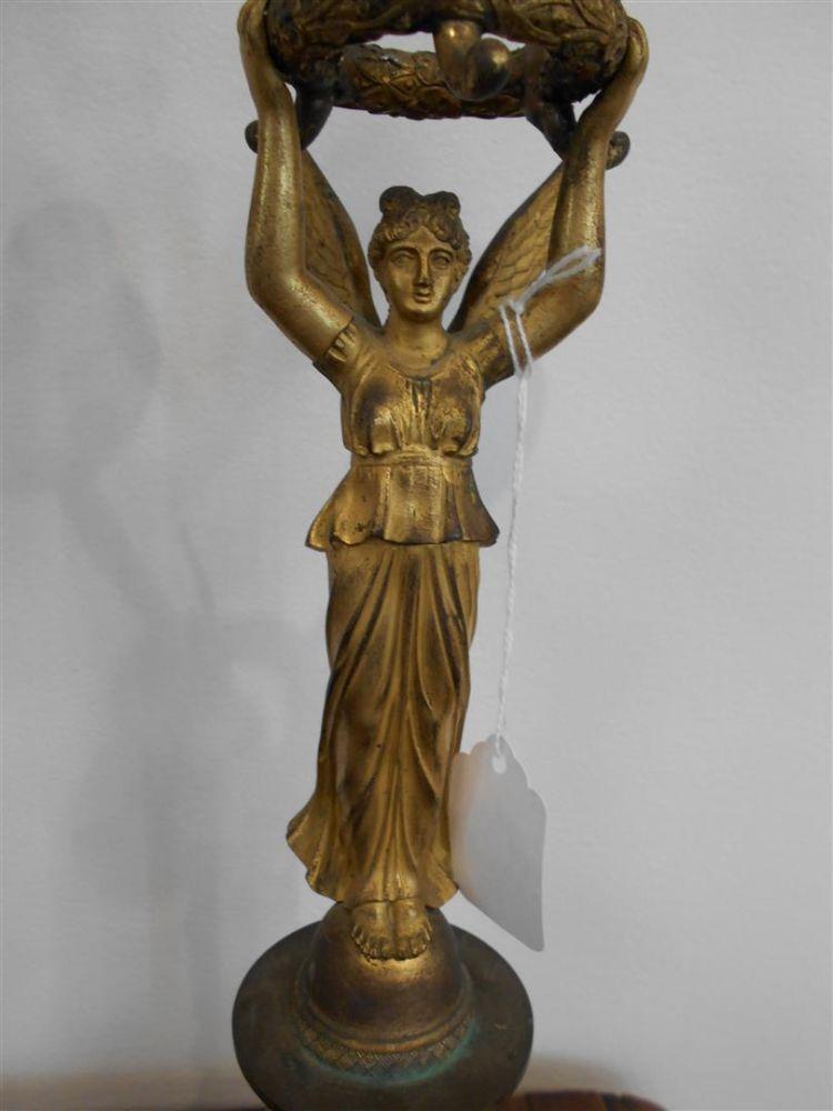 Pair of Empire Gilt-bronze Three-light Candelabra