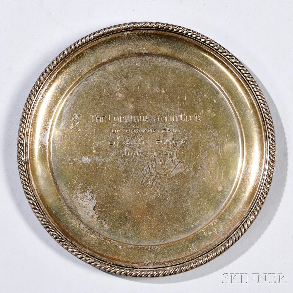 Sterling Silver Corinthian Yacht Club of Philadelphia Presentation Plate