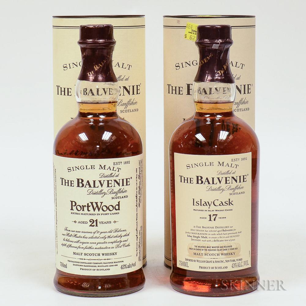 Mixed Balvenie, 2 750ml bottles (ot)