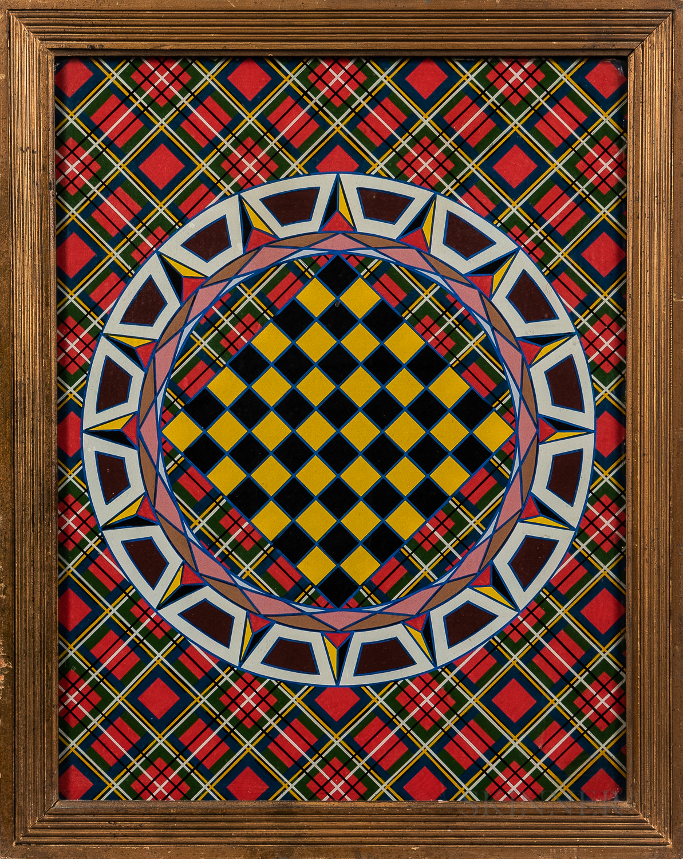 Framed Eglomise Polychrome Game Board