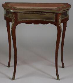 Louis XV Style Bronze Mounted Mahogany Vitrine Table