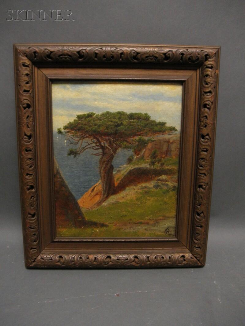 Robert Swain Gifford (American, 1840-1905)      The Old Juniper Tree At Manchester, Cape Ann, Mass.