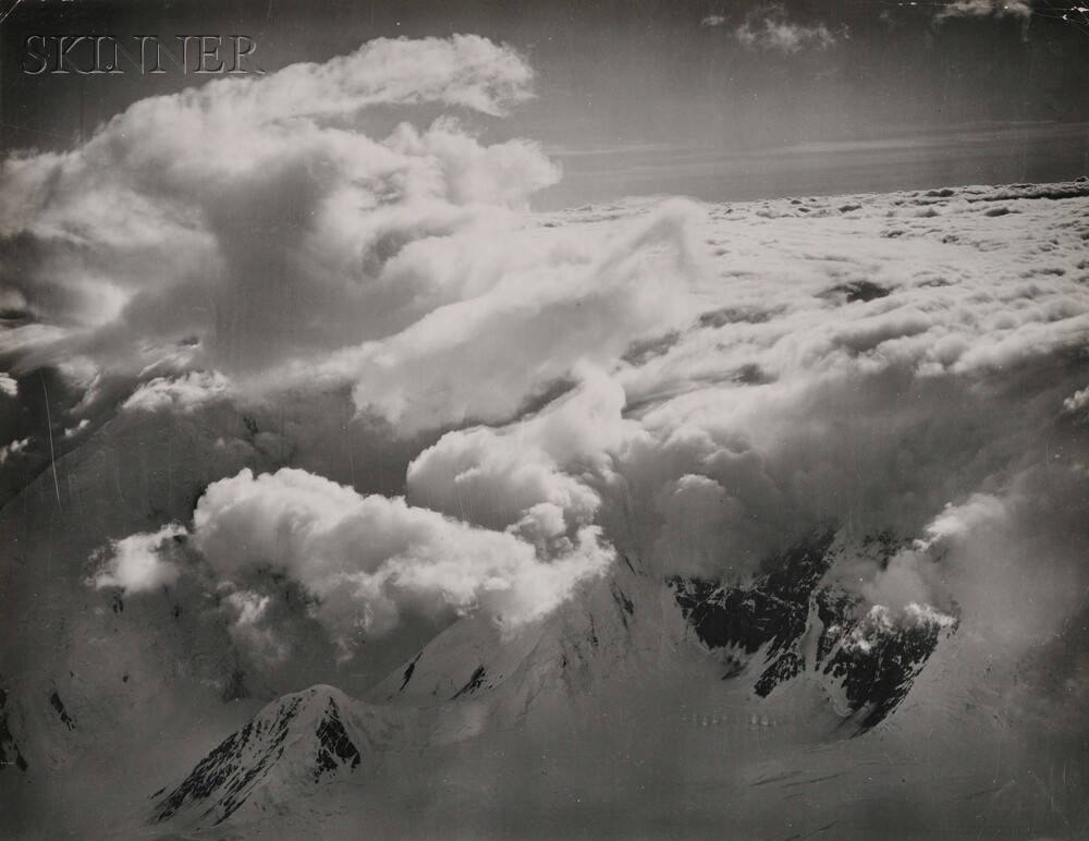 Bradford Washburn (American, 1910-2007)      Clouds Pouring Over Kahiltna Pass Just West of Mt. McKinley, Late Afternoon