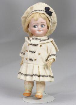 Bisque Socket Head Googlie-Eyed Doll
